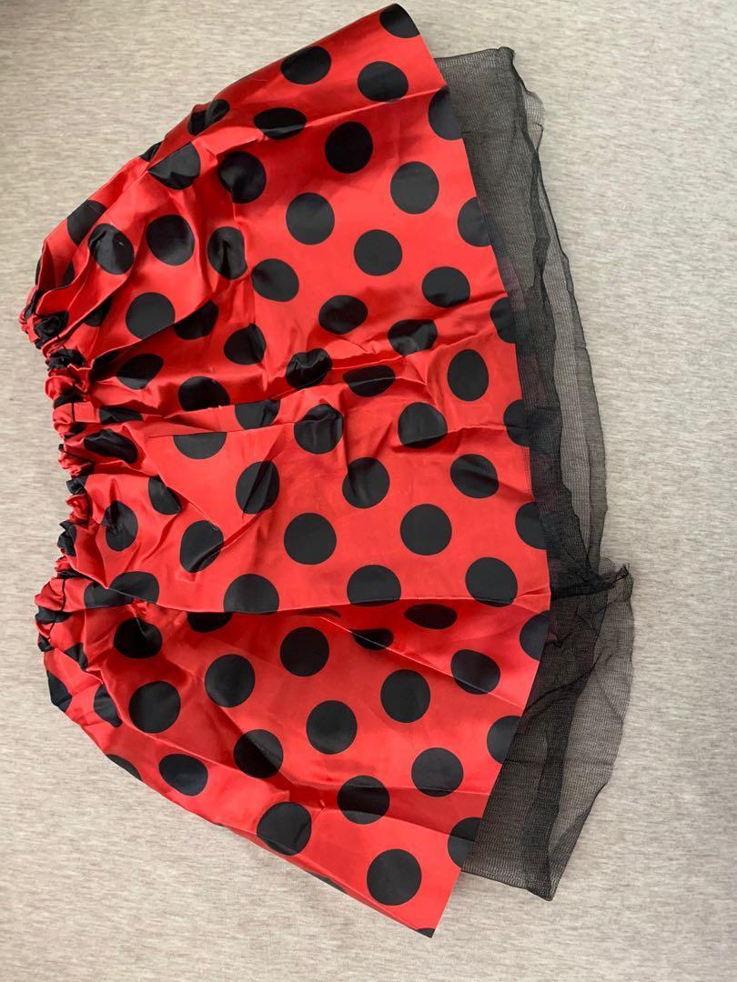 Halloween costume ladybug skirt for kids