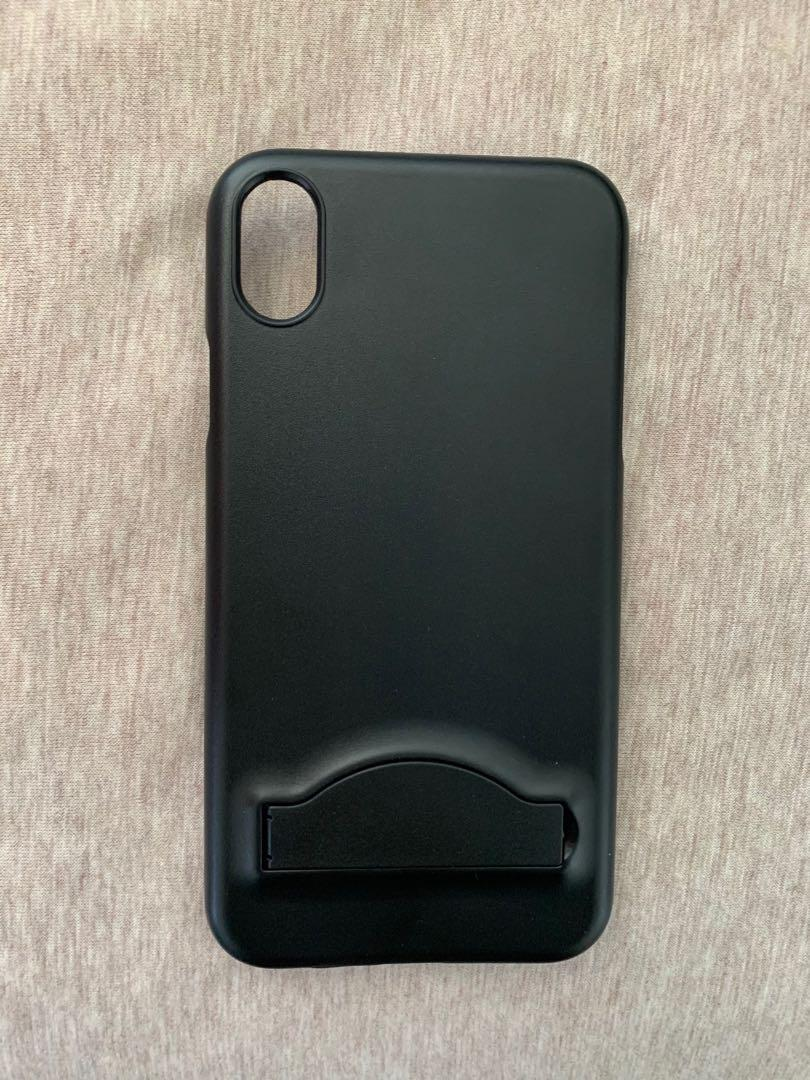 iPhone XR black case with foldable stand