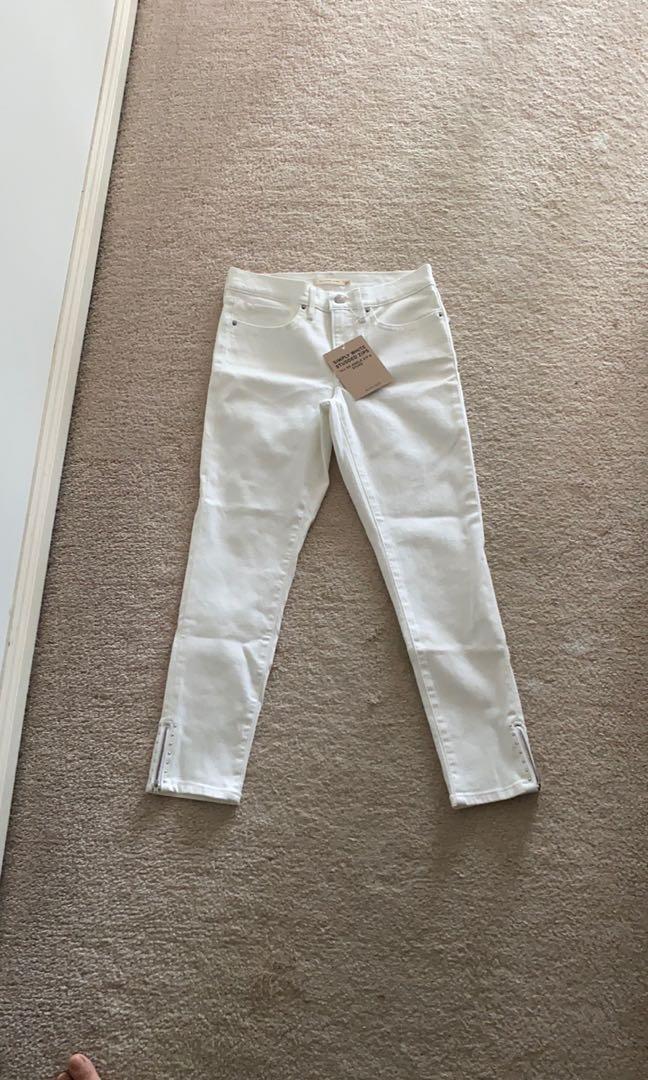 Levi's women's 311 white denim jeans NWT
