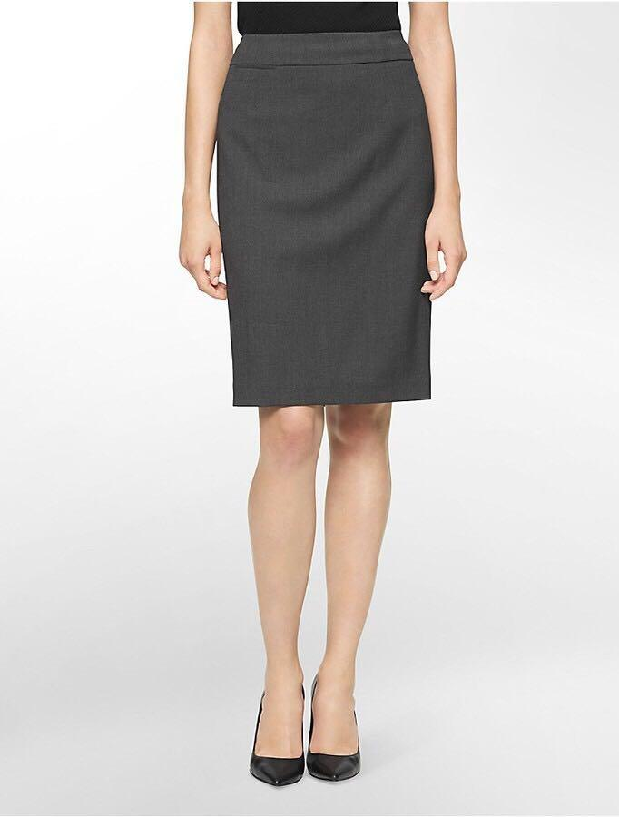 NWT Calvin Klein Pencil Suit Skirt