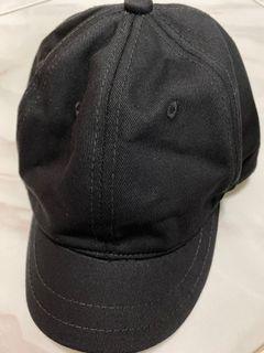 Plain Short Brim Black Cap
