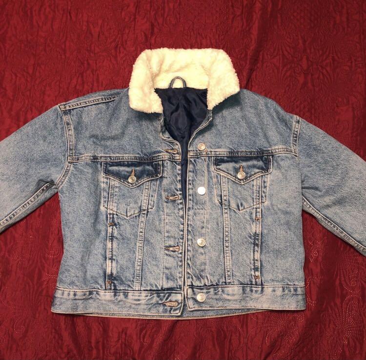 Topshop Cropped Denim Jacket
