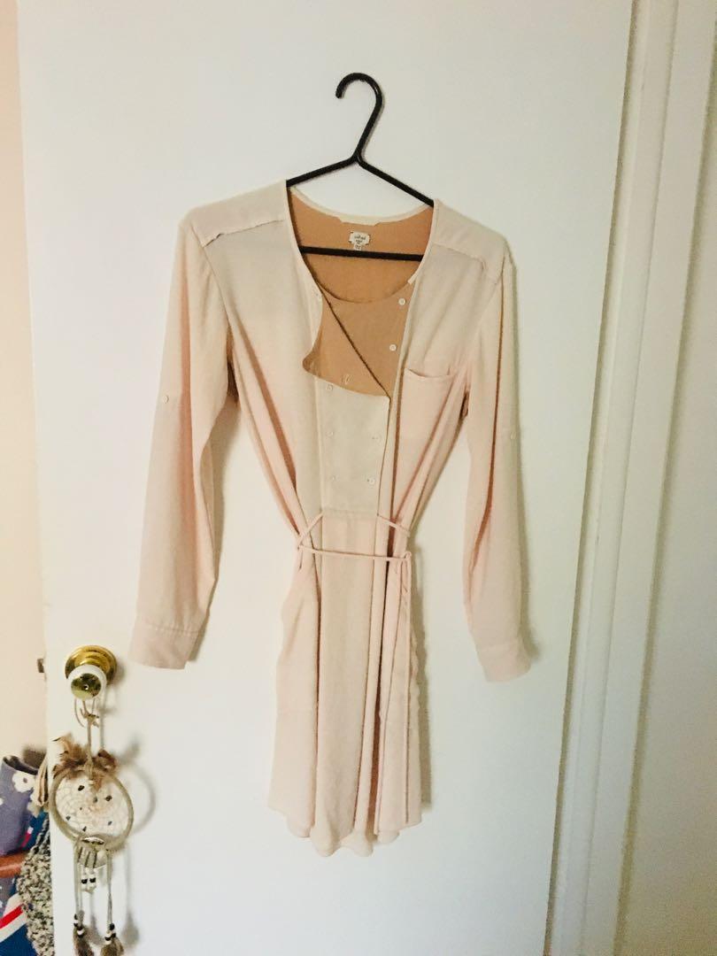 Wilfred silk trim dress