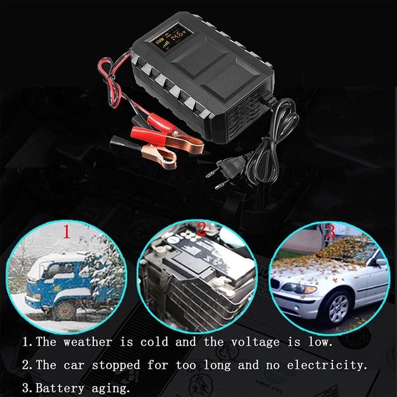 12v汽車摩托車電瓶充電器智能20A車載鉛酸蓄電池充電器