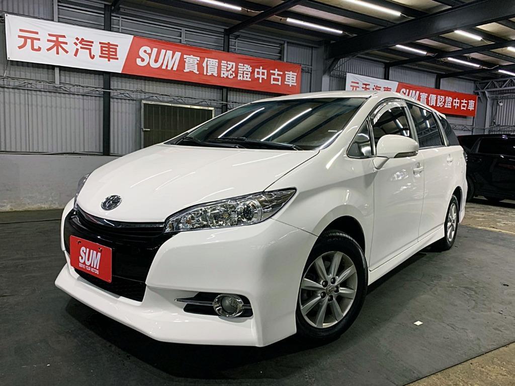 2012 Toyota Wish 2.0 白色超貸 找錢 實車實價 全額貸 一手車 女用車 非自售 里程保證 原版件