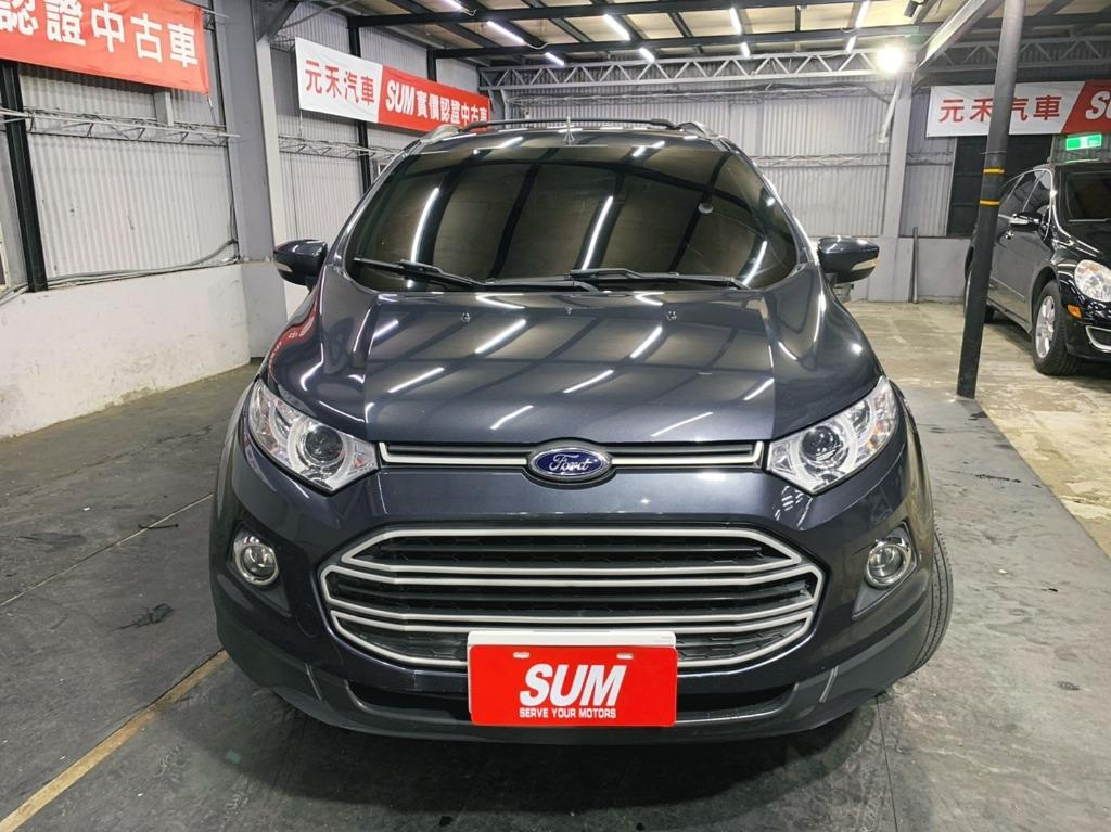 2014年 最頂級 Ford EcoSport 1.5五門掀背小休旅,雲河灰超貸 找錢 實車實價 全額貸 一手車 女用車 非自售 里程保證 原版件