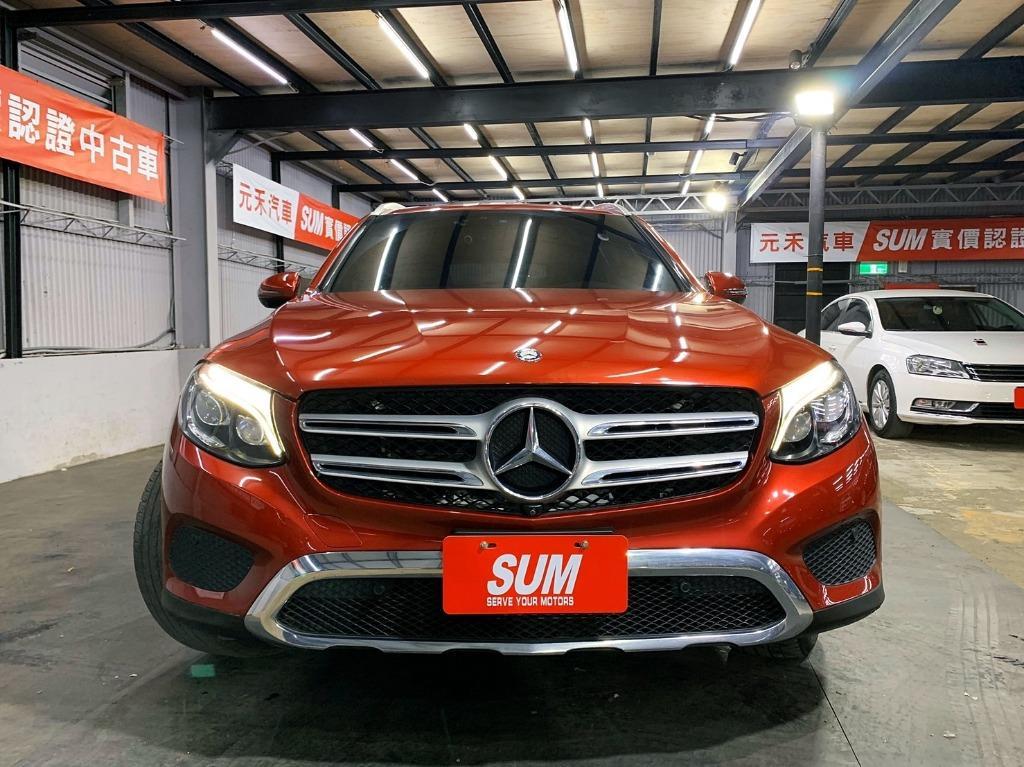 2016年出廠 總代理Mercedes-Benz GLC250 2.0耀眼紅超貸 找錢 實車實價 全額貸 一手車 女用車 非自售 里程保證 原版件