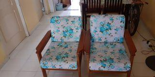3+1+1 Wooden sofa(free covers)