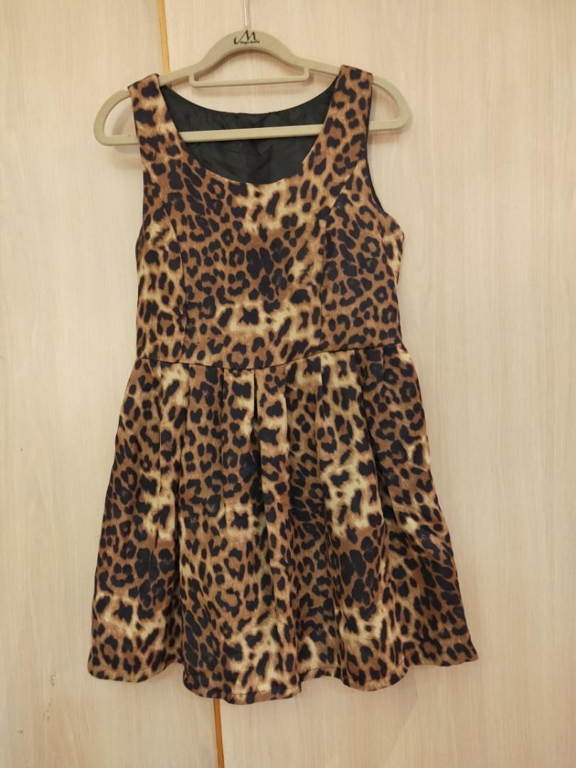 免費豹紋小洋裝