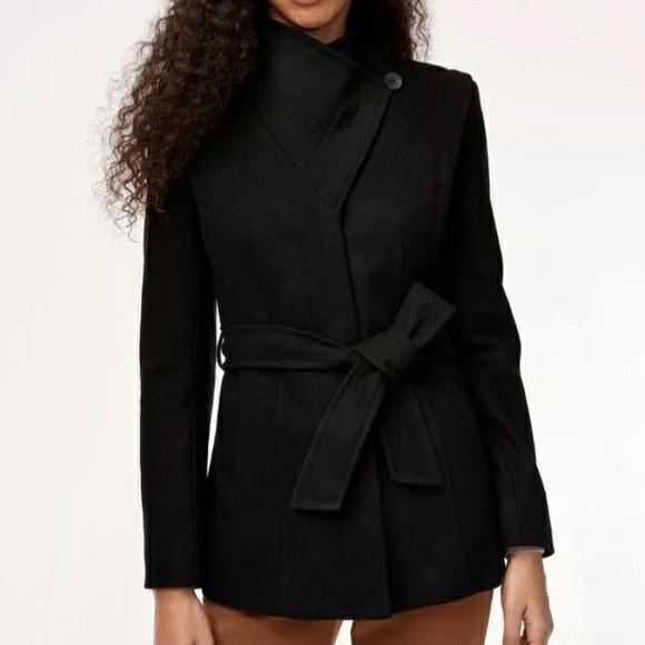 Aritzia Babaton Spencer Wool Coat in black size S