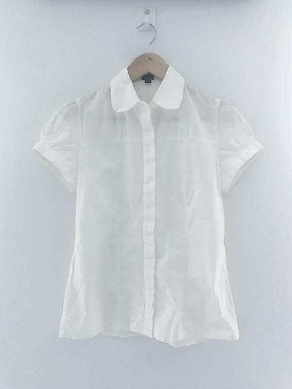 Aritzia Talula Babaton White Cotton Button Down T-Shirt Size Small