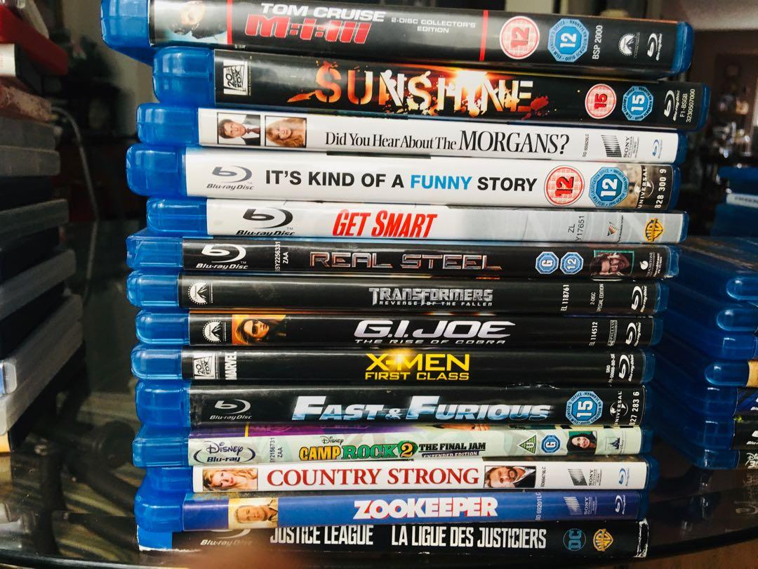 Blu-ray , 7$ each or 5 for 25$ , obo