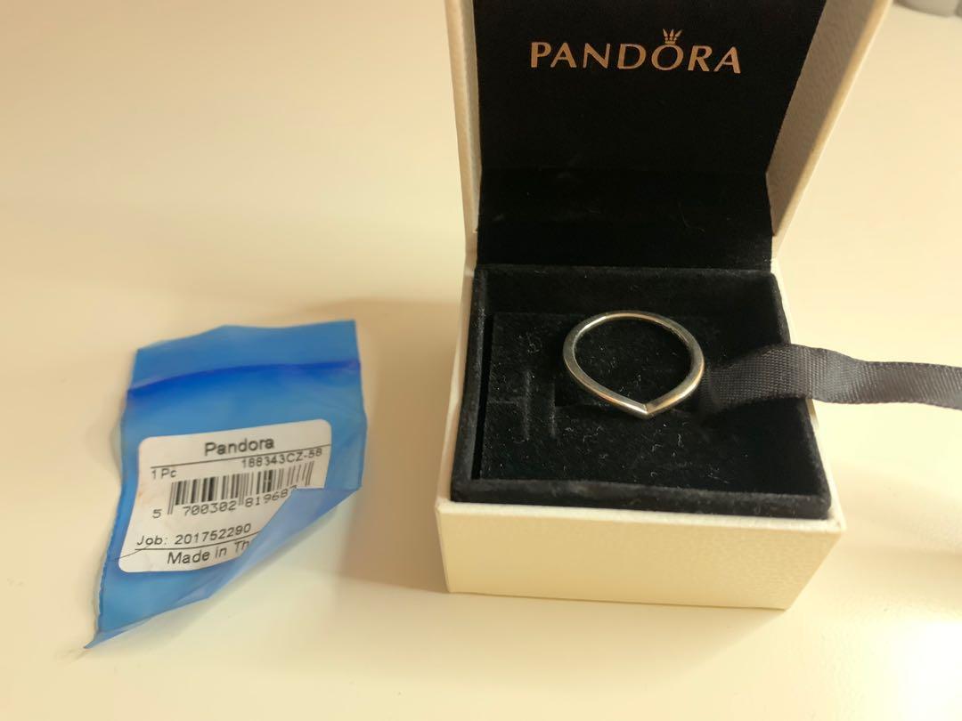 brand new polished wishbone pandora ring