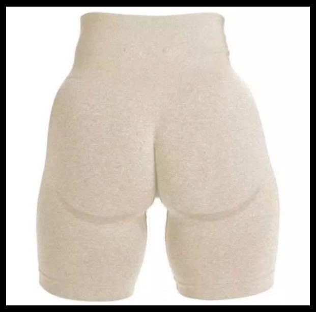 Brand new size small highwaisted beige seamless workout shorts