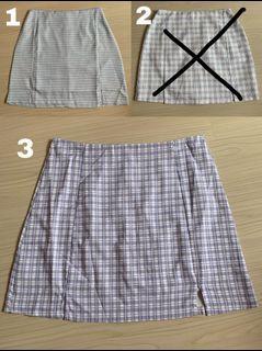 checkered/plaid skirt