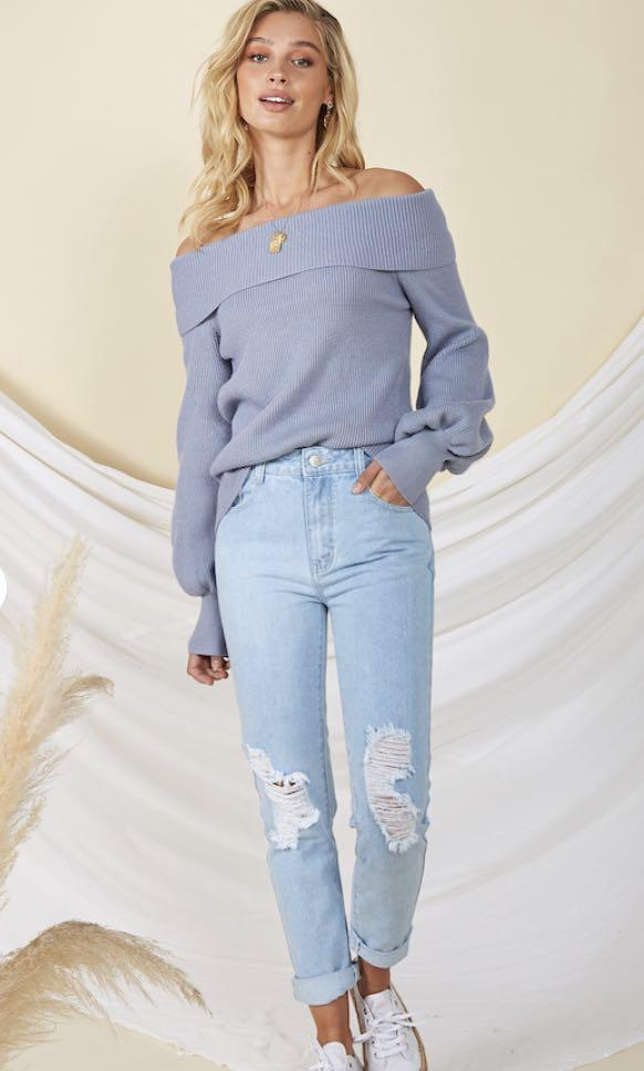 FORTUNATE ONE - OFF SHOULDER TOP