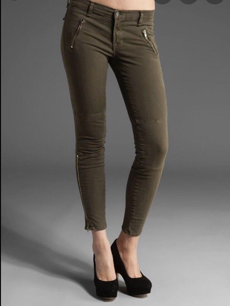 JBrand Army Green Skinny Jeans Size 26