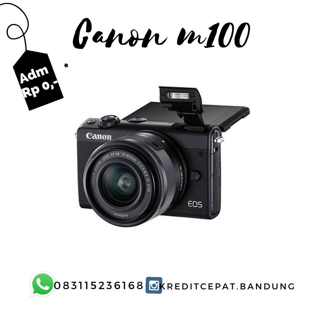 Kamera Canon M100 Promo dp 550rb tanpa kartu kredit