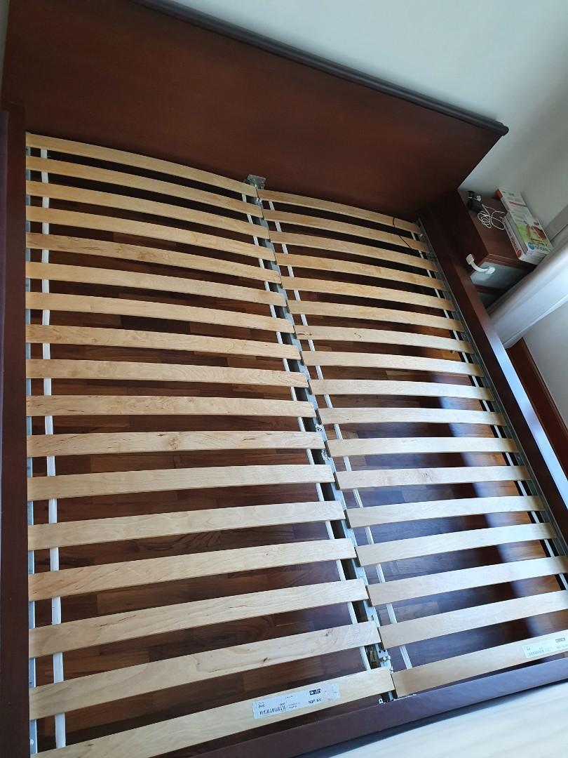 King Size Bed Frame Ikea Hamar Malm Furniture Beds Mattresses On Carousell