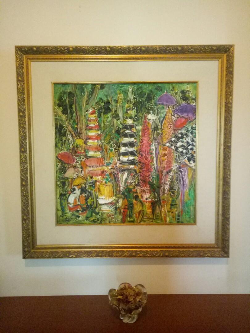 Lukisan Pura Bali