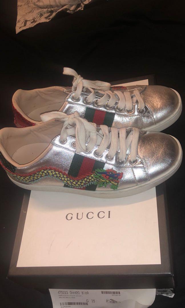Metallic Gucci's shoes