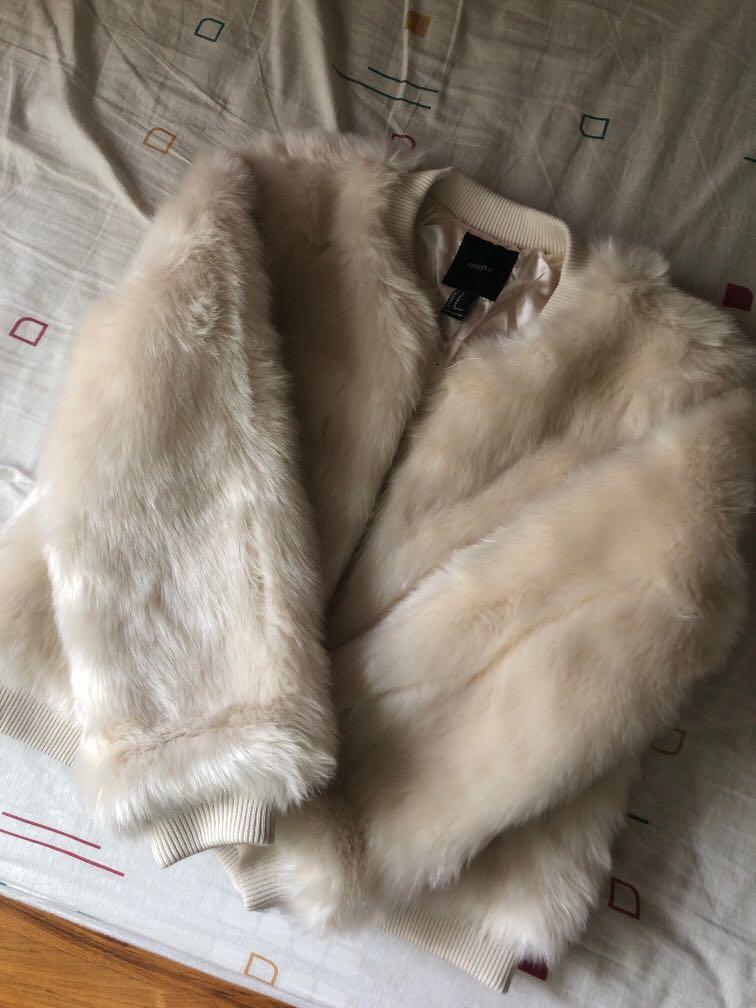 Pastel Pink Faux Fur Jacket Brand New