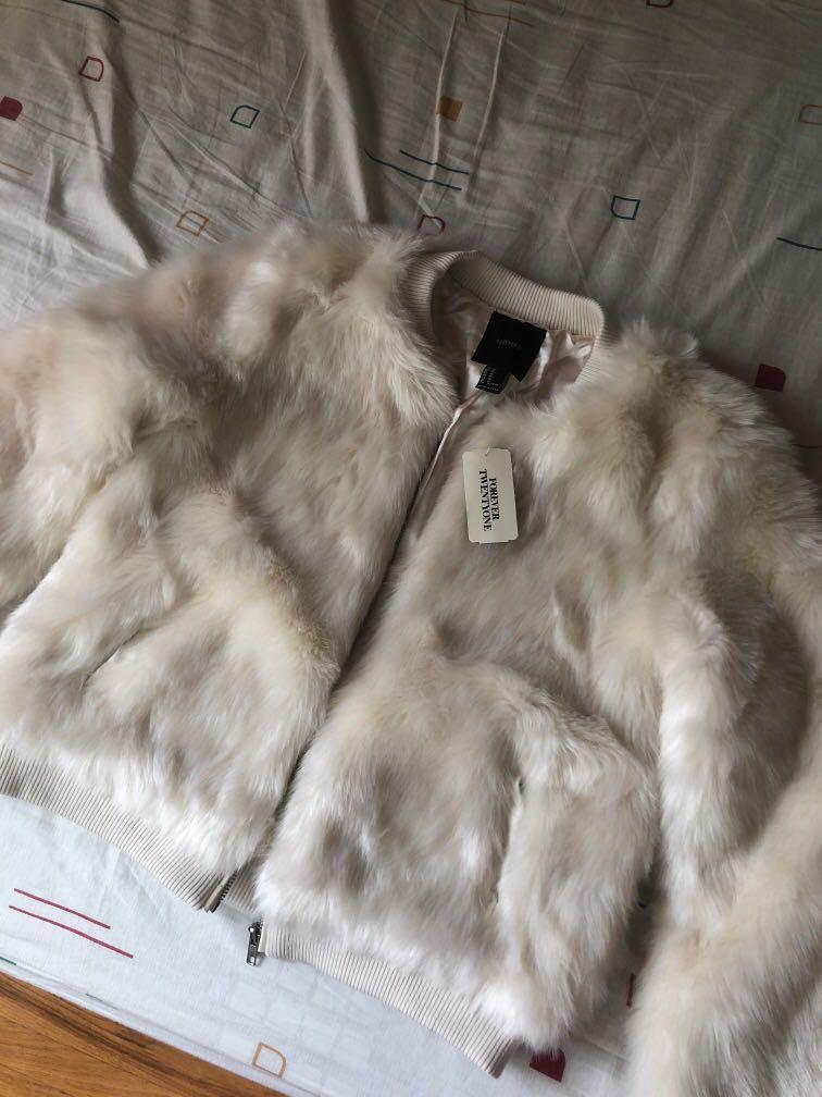 Pastel Pink Faux Fur Jacket Medium