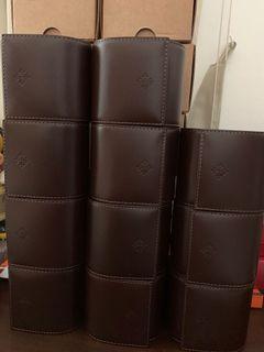 Genuine Patek Philippe VIP Dark Brown Leather Travel Pouch Case