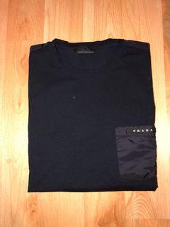 Prada Black  Nylon Pocket T-Shirt