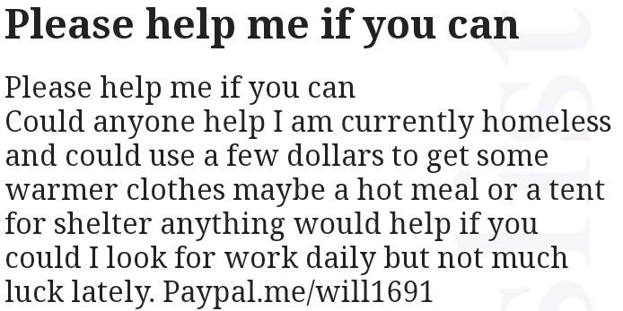 Seeking a little help please