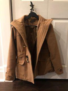 Suzy Shier Camel Peacoat - size XS - removable hood