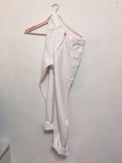 Toooon 白色男友褲 S 尖如品牌
