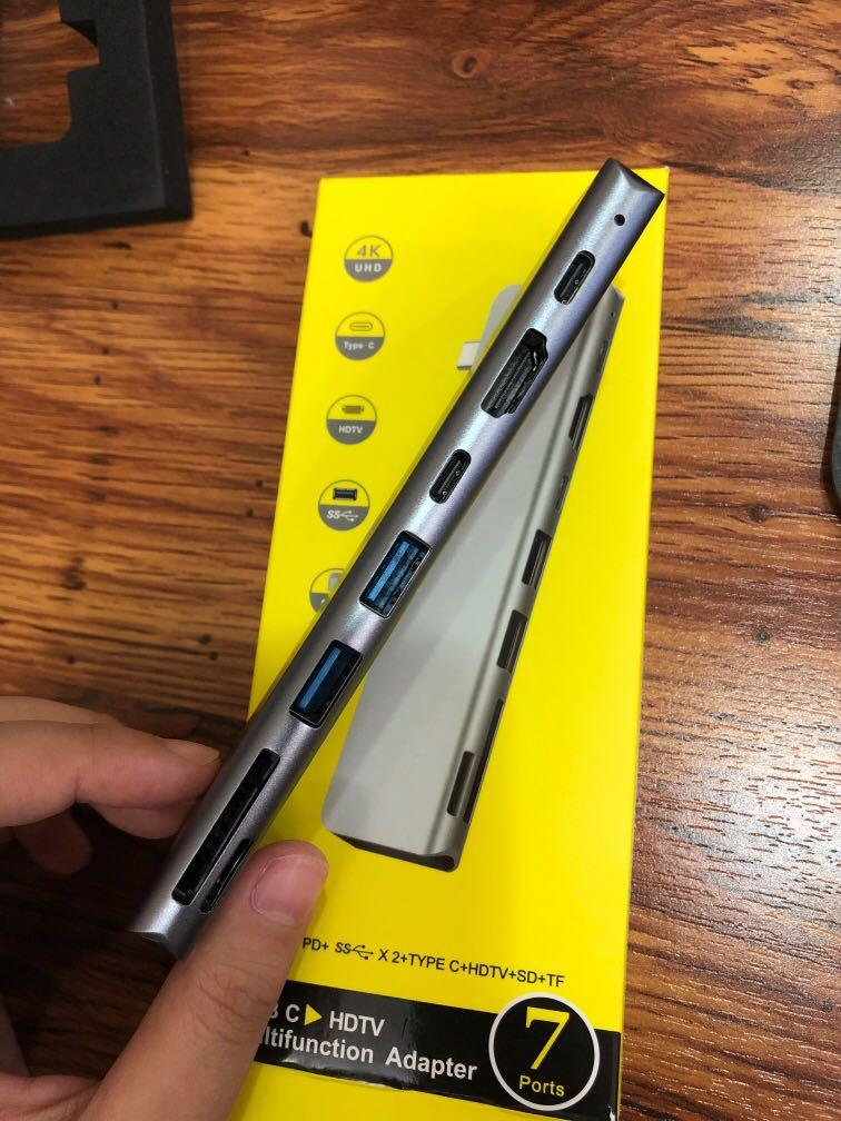 type c 多功能轉接 七合一 7in1 Macbook