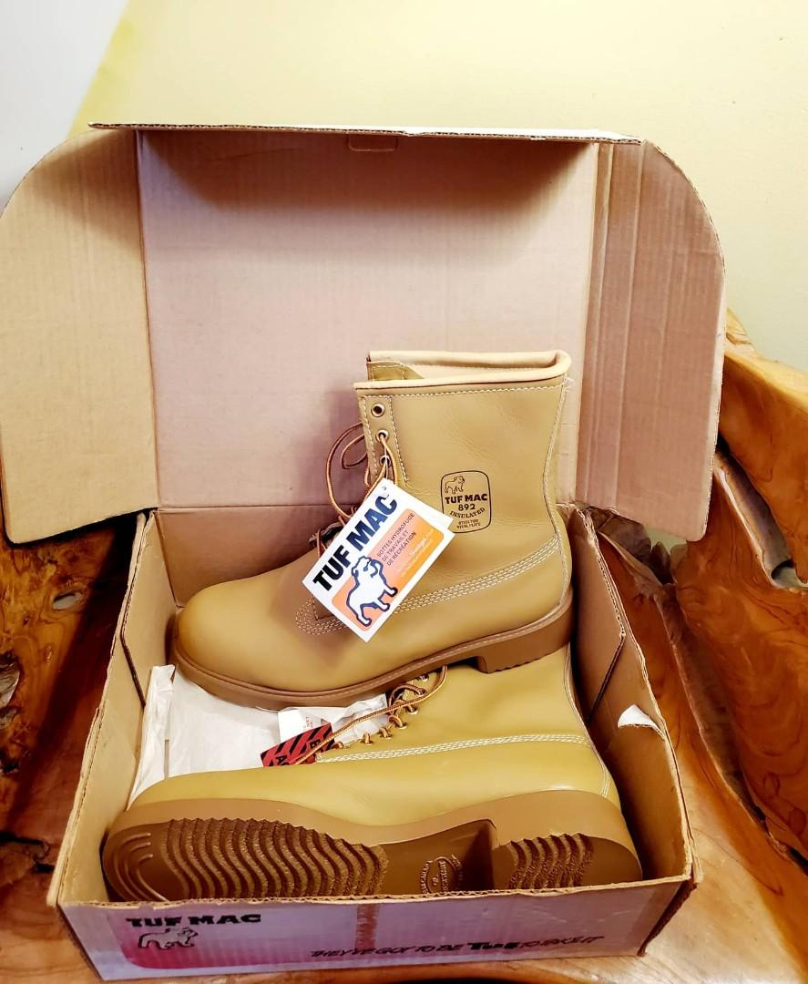 Vintage Rare Deadstock Tuf Mac Work & Sports Boots Size 11