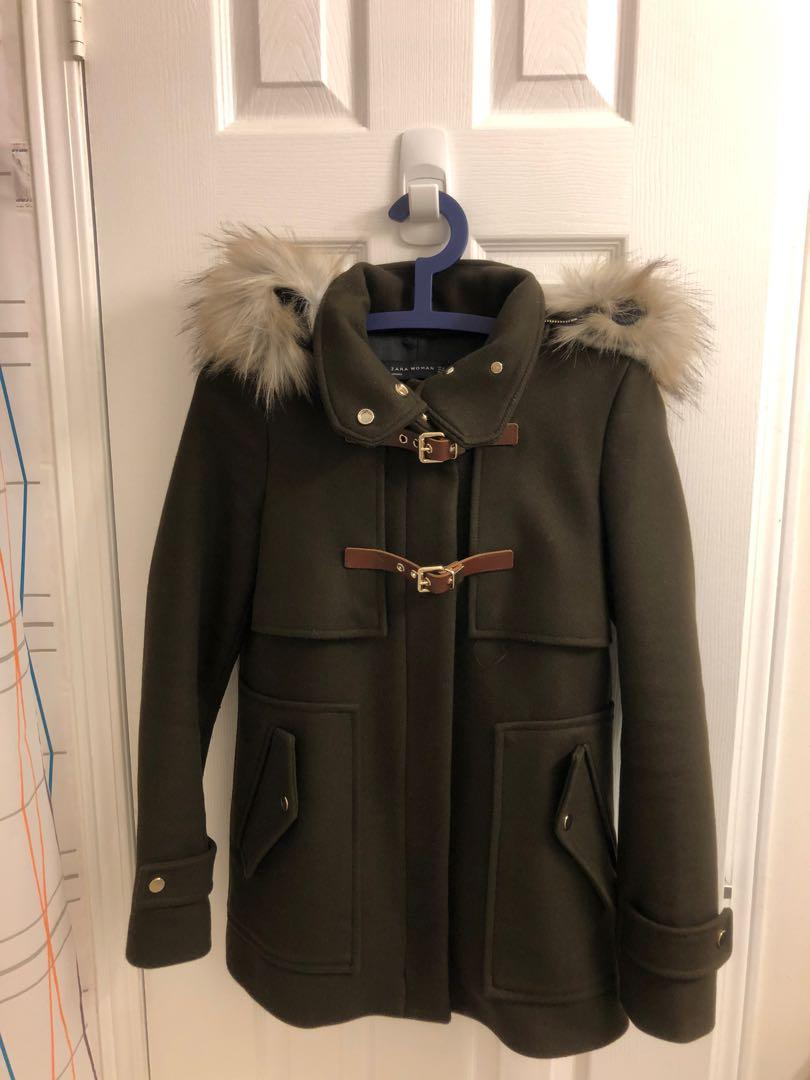 Zara coat size xs (olive green)