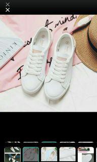 混真皮 超柔軟小白鞋