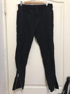 拉鍊褲腳 條紋 西裝褲