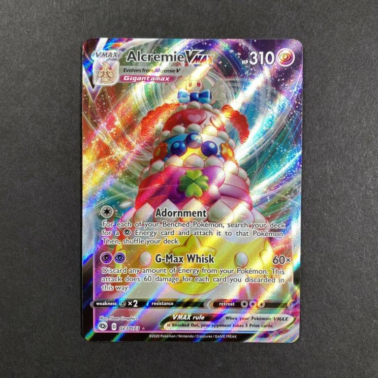 Alcremie VMAX FULL ART ULTRA RARE 023//073 Champions Path NM Pokemon TCG Card