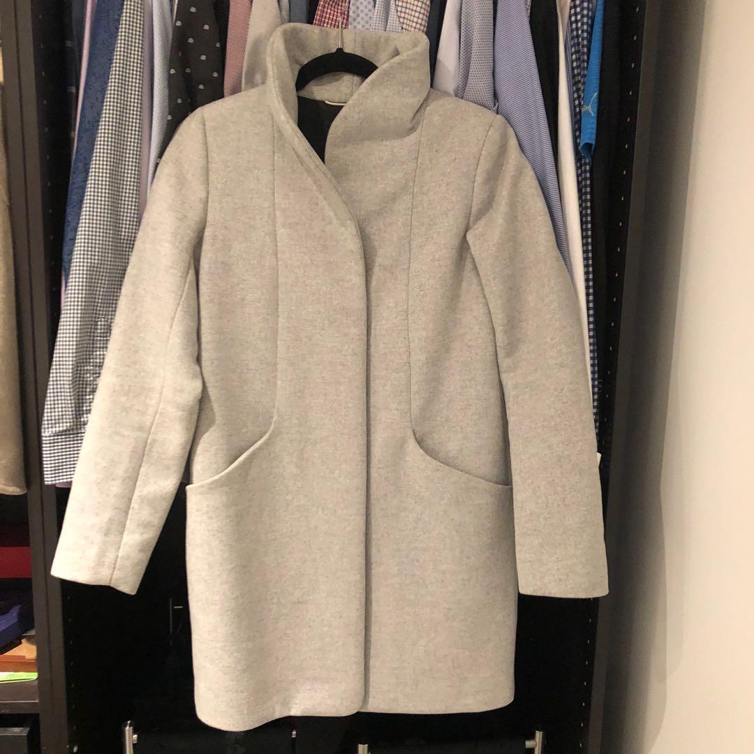 Aritzia Wilfred cocoon wool coat heather white size XXS