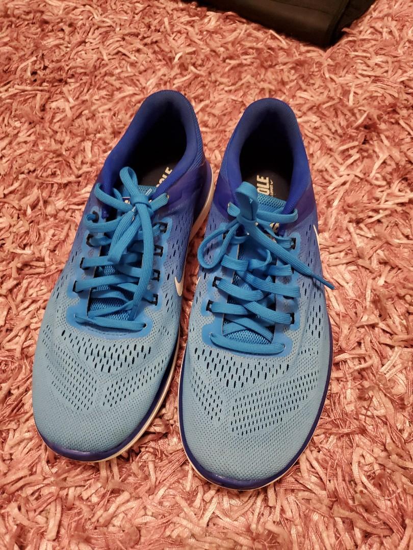 Blue Nike runners