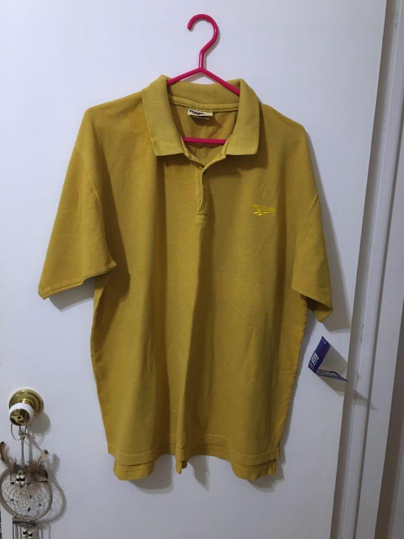 Bnwt mustard vintage reebok polo