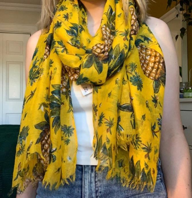 colourful yellow scarf