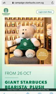 Exclusive Giant Starbucks Bearista Bear ~ limited edition 🌟🌟