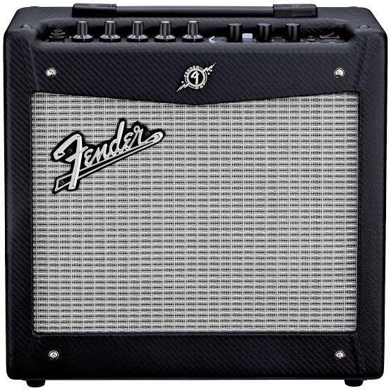 Fender mustang amp + guitar