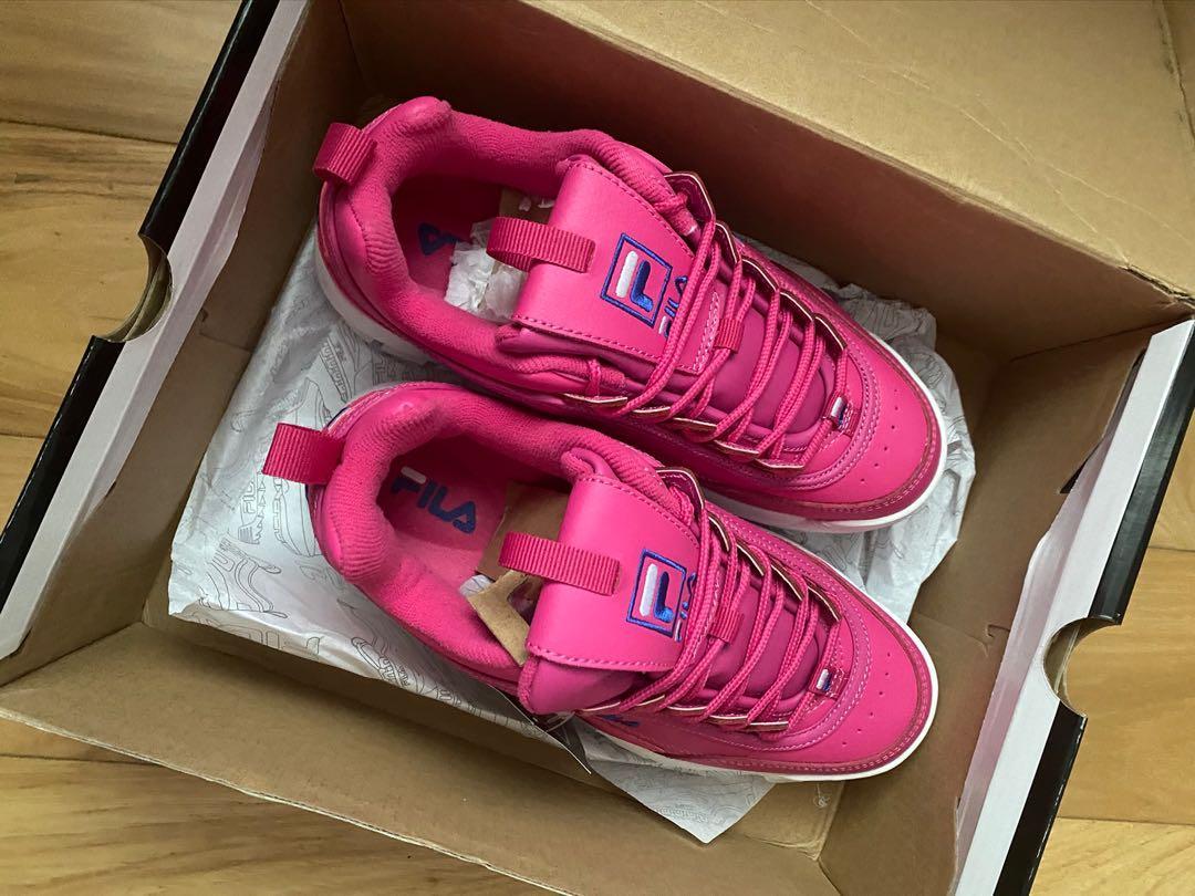 Fila pink shoes