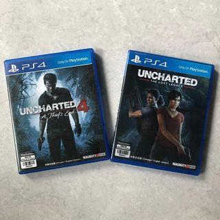 Game PS4 - Uncharted 4: A Thief's End & Uncharted: The Lost Legacy