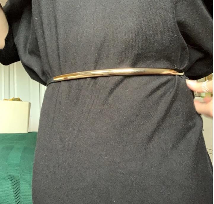 gold metal belt