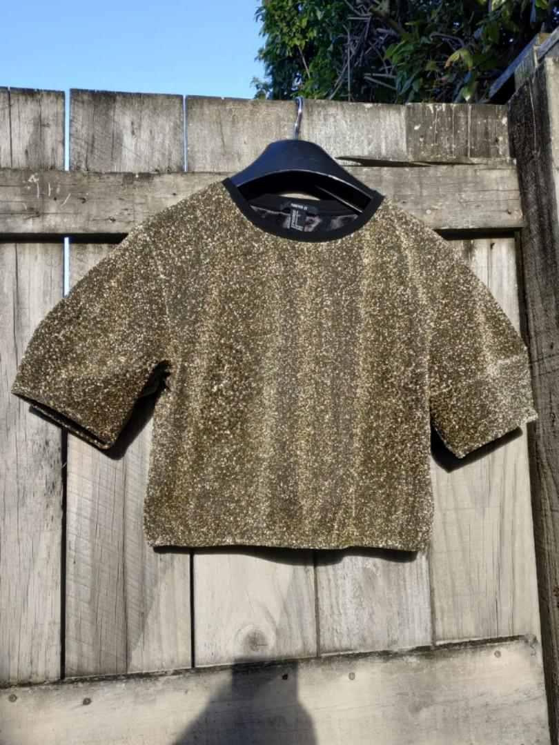 Golden Glitter Shirt Party