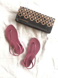 Ipanema flip flop sandal rj joatinga burgundy 35 36
