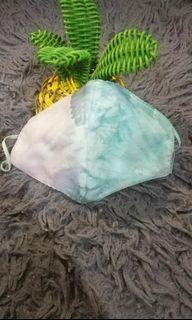 masker tie dye waterproof motif mermaid melody